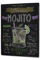 Tin Sign XXL Nostalgic Mojito cocktail