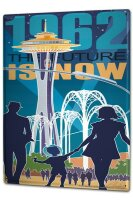 Tin Sign XXL Fun 1962 the future is now family tower