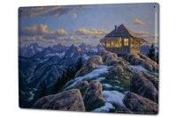 Tin Sign XXL Holiday Travel Agency Mountain hut