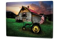 Tin Sign XXL Ravtive Tractor Garages old tractor barn...