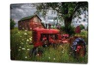 Tin Sign XXL Retro Tractor Factory Tractor Barn ago