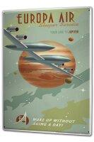Tin Sign XXL Space Star Moon Jupiter