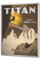 Tin Sign XXL Nostalgic Space Saturn