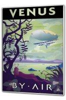 Tin Sign XXL Nostalgic Space Venus