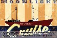 Perpetual Calendar Oceans M.A. Allen Moonlight Cruise Tin...