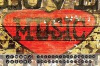 Perpetual Calendar Retro M.A. Allen Love Music Tin Metal...