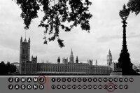 Perpetual Calendar City Butcher London England Tin Metal...