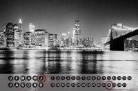 Perpetual Calendar City Butcher New York USA Tin Metal...