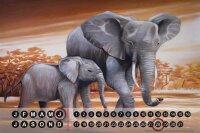 Perpetual Calendar Asia Elephant Motif Warminski...