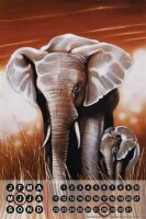 Perpetual Calendar Elephant Zoo Warminski elephant pair...