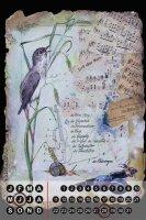 Perpetual Calendar Bird Warminski nightingale Tin Metal...