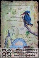 Perpetual Calendar Bird Warminski kingfisher Tin Metal...
