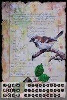 Perpetual Calendar Bird Warminski house sparrow Tin Metal...