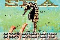 Perpetual Calendar Fun M.A. Allen Seahorse Tin Metal...