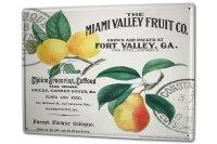 Tin Sign XXL Retro Fruits Miami
