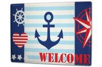 Tin Sign XXL Kitchen Ship Welcome