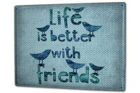 Tin Sign XXL Fun Life with friends