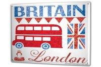 Tin Sign XXL Retro Art Metropole London England