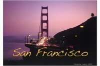 Fridge Magnet City G. Huber San Francisco golden gate