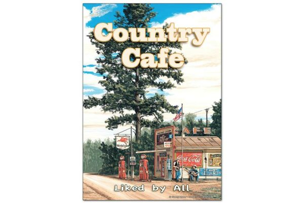 Fridge Magnet Holiday Travel Agency G. Huber Country Cafe