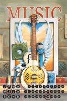 Perpetual Calendar Cinema G. Huber Music guitar Tin Metal...