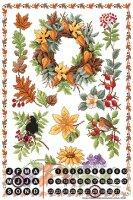 Perpetual Calendar Fun Kitchen Lindner autumn plants Tin...