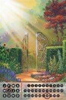 Perpetual Calendar Tale G. Huber magic Garden Tin Metal...
