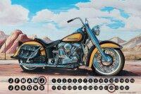 Perpetual Calendar Motorcycle Garage G. Huber Freedom...