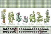 Perpetual Calendar Flora Floral Lindner herbal Cure Tin...
