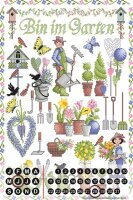 Perpetual Calendar Kitchen Lindner garden plants Tin...