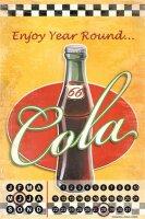 Perpetual Calendar Soda Soft Drink G. Huber Cola Tin...