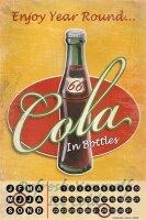 Perpetual Calendar Bar Restaurant G. Huber enjoy cola Tin...