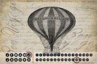 Perpetual Calendar Retro Hot air balloon Tin Metal Magnetic