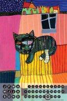 Perpetual Calendar rative Vet Practice Stross night cat...