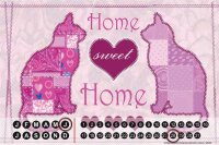 Perpetual Calendar Cat Breed Cat sweet home Tin Metal...