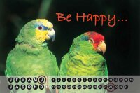 Perpetual Calendar Bird Species G. Huber Be happy Parrot...