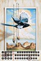 Perpetual Calendar Bird G. Huber Paradise bird Tin Metal...
