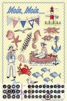 Perpetual Calendar Nursery Lindner Baltic Sea Horse Tin...