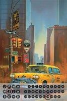 Perpetual Calendar Holiday Travel Agency G. Huber Yellow...