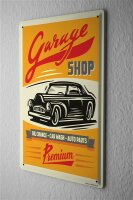 Tin Sign Vintage Car Oil change