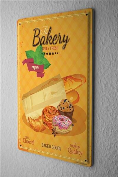 Blechschild Büro Werkstatt Bäckerei