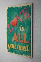 Tin Sign Marriage Happiness All you need