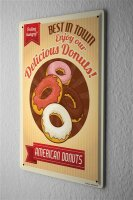 Tin Sign Kitchen american donuts