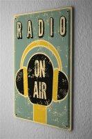 Tin Sign Nostalgic radio on air