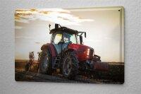 Blechschild Nostalgie Traktor Egge