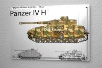 Blechschild Militär Panzer IV H