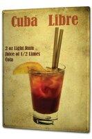 Tin Sign XXL Bar Party Cuba Libre