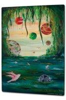 Tin Sign XXL Fun Ravtive Krakowski Planets water clearing
