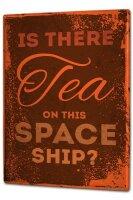 Tin Sign XXL Retro Space ship