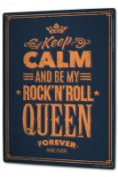 Tin Sign XXL Fun Keep Calm Rock n Roll